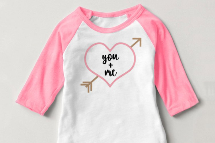 You and Me Heart with Arrow SVG File