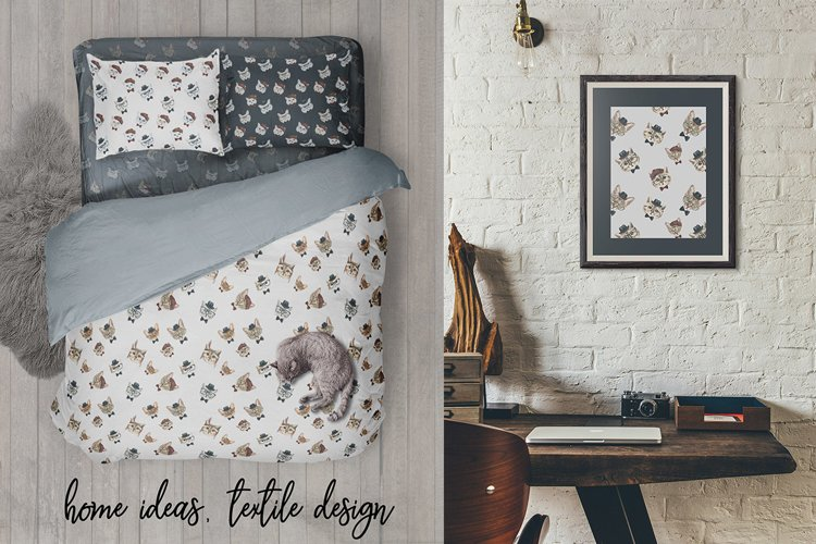 Cat watercolor patterns  - Free Design of The Week Design2