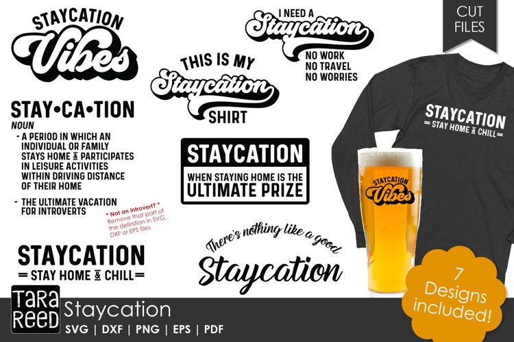Staycation - Vacation SVG and Cut Files for Crafters