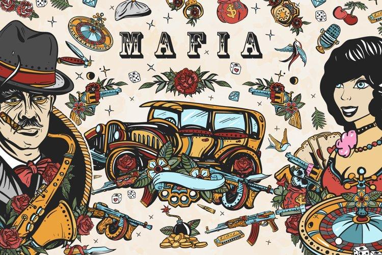 Mafia old school tattoo example image 1