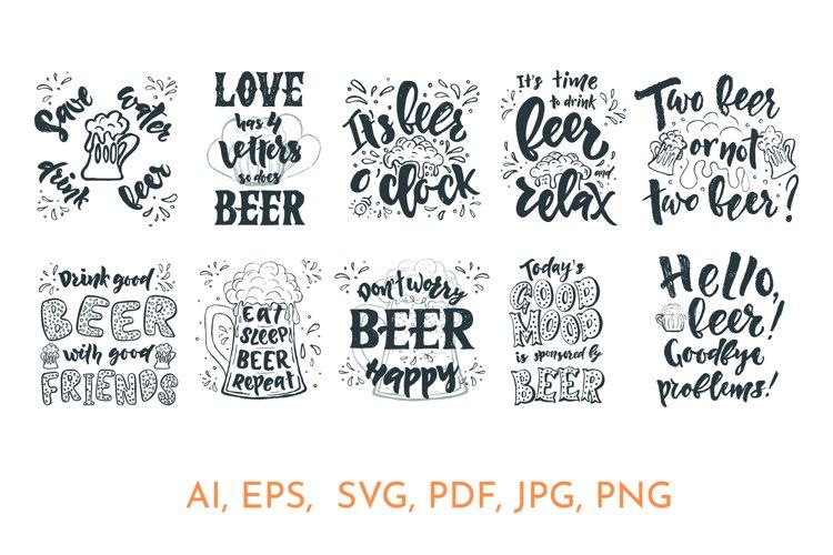 Beer quotes bundle. SVG, EPS, AI, PDF, DXF, JPG, PNG