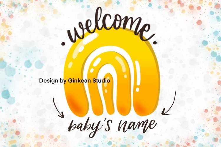 Made to order card, Welcome baby, card for baby, baby shower example image 1