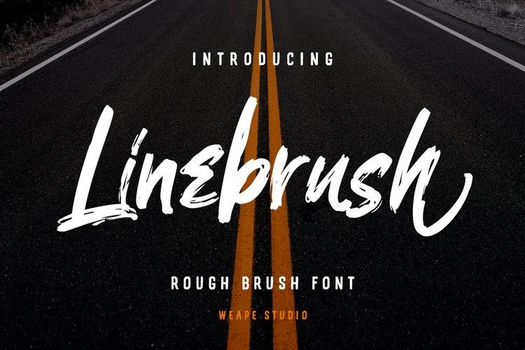 Linebrush - Rough Brush Font example image 1