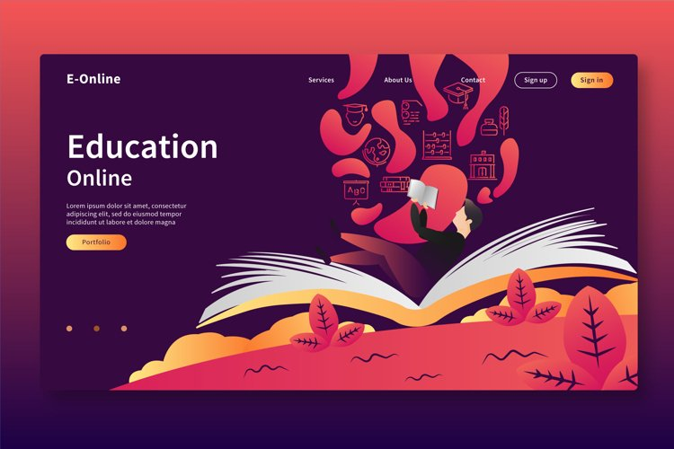Education Online - Landing Page example image 1