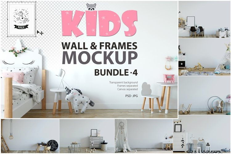KIDS WALL & FRAMES Mockup Bundle - 4 example image 1