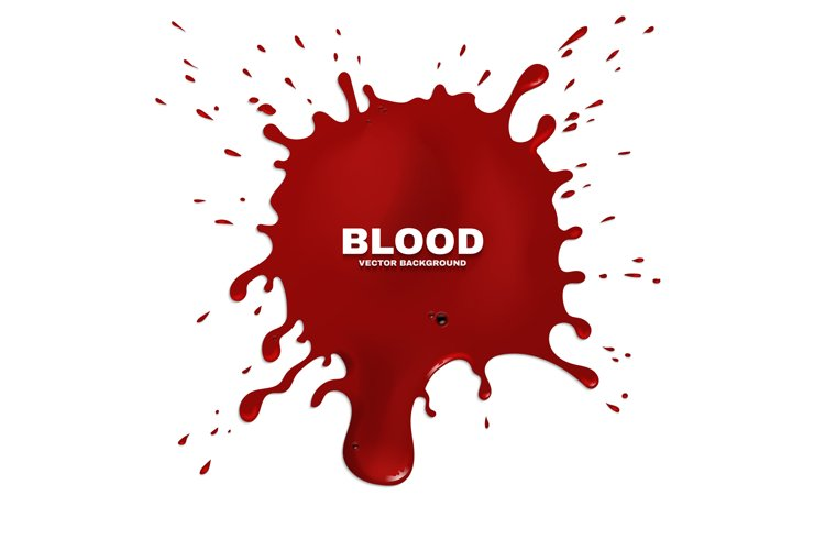 Red blood splatter vector grunge background example image 1