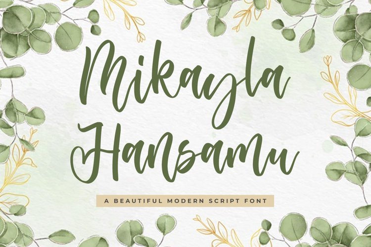 Wedding Script Font - Mikayla Hansamu example image 1