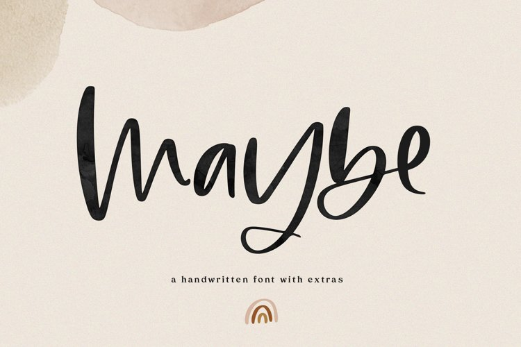 Maybe - Script Font with Doodles example image 1