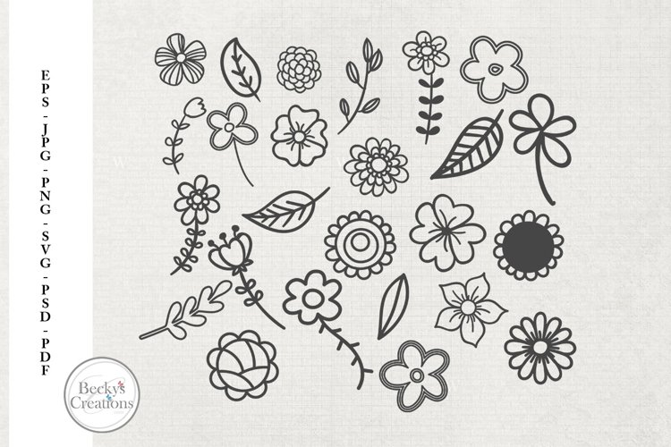 Flower Doodles example image 1
