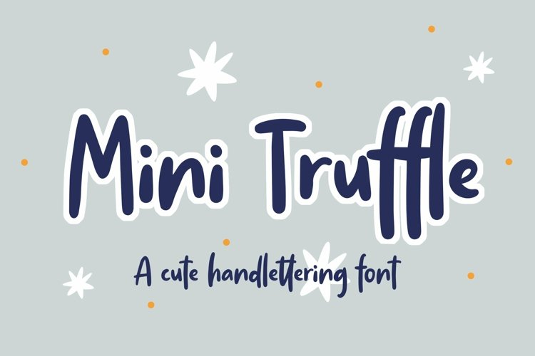 Web Font Mini Truffle - Cute Handlettering Font example image 1