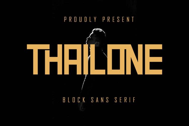 Thailone - Block Sans Serif example image 1