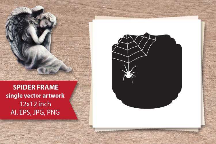 spider frame - single vector artwork example image 1