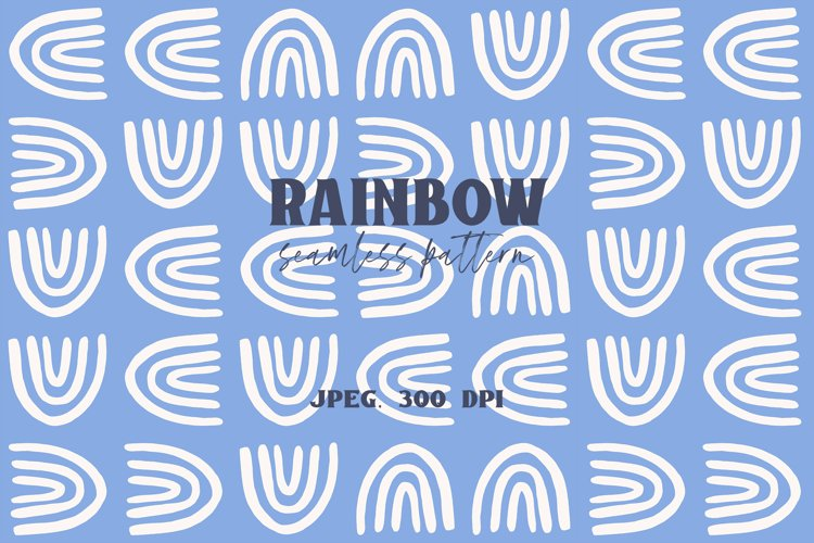Rainbow - Seamless Pattern example image 1