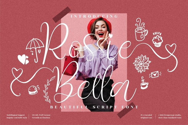 Rossie Bella - Beautiful Calligraphy Font example image 1