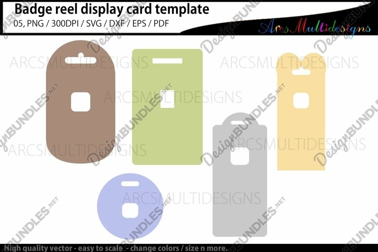 Badge reel display card template / retractable example image 1