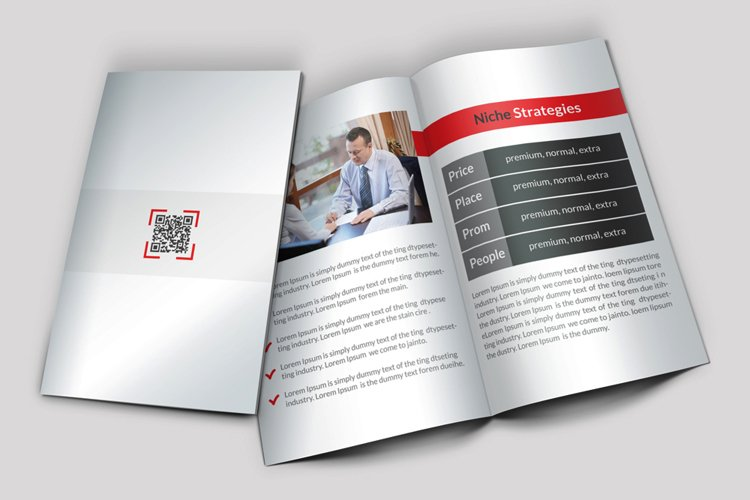Corporate Business Dealing Bifold Brochure example image 1