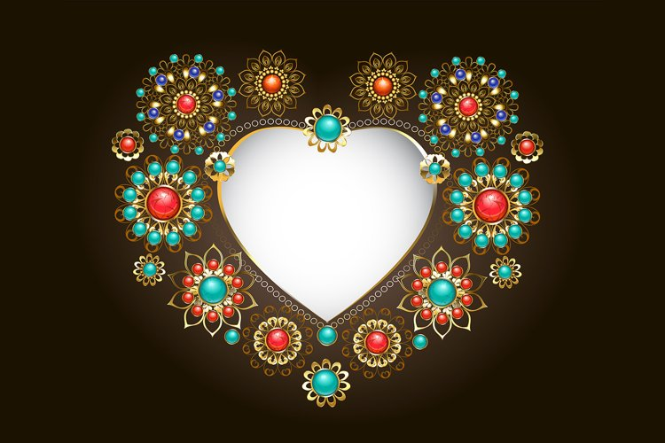 Ethnic Frame in the Shape of Heart example image 1