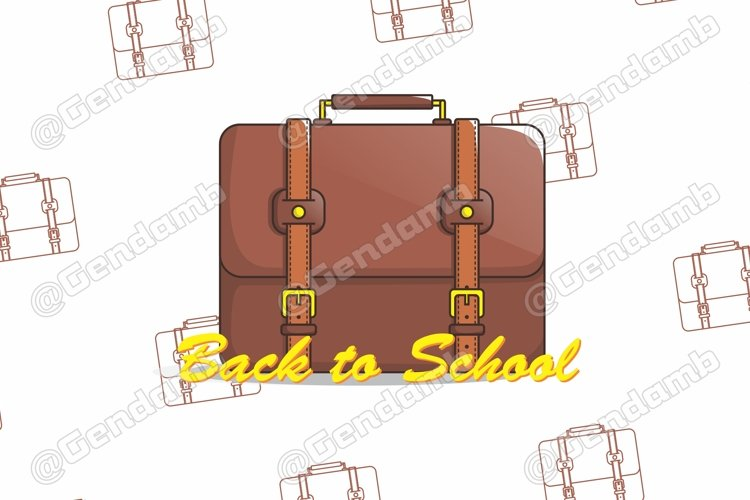Suite Case Illustration | Back to School example image 1