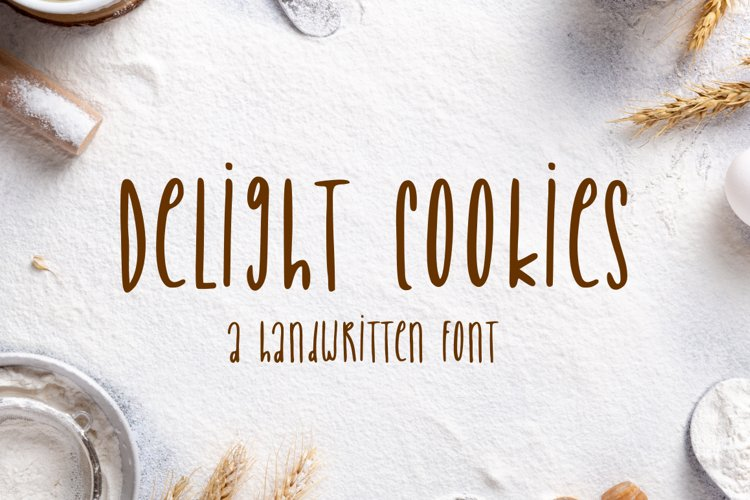 Delight Cookies - A Handwritten Font example image 1