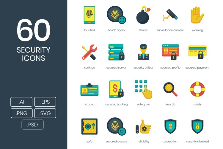 60 Security Icons example image 1