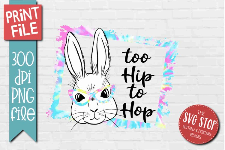 Bunny Rabbit Glasses Easter Sublimation Design PNG example image 1