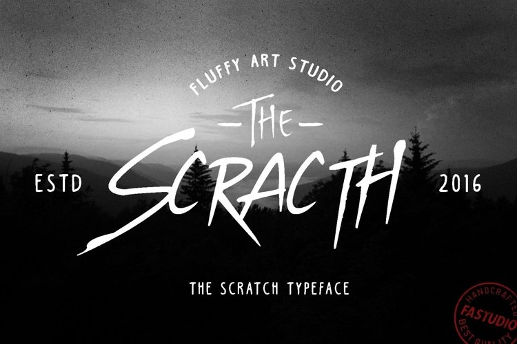 Web Font SCRATCH Typeface example image 1