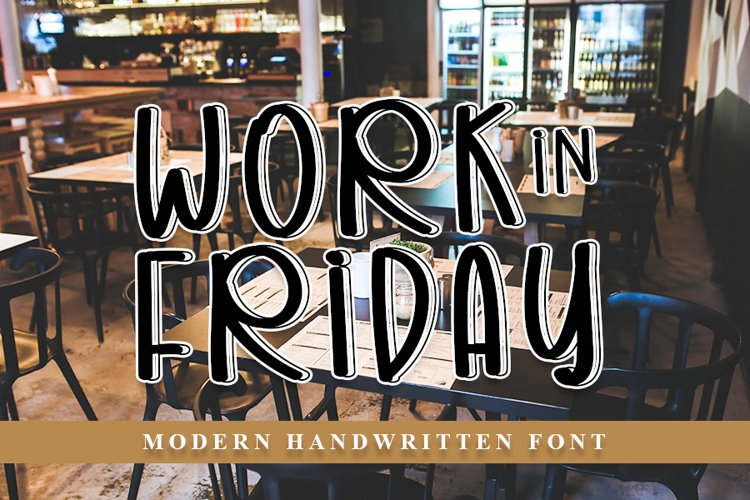 Work In Friday - Modern Handwritten Font example image 1