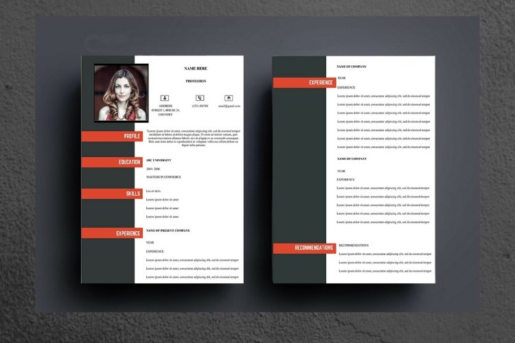 Black and Red Modern Resume example image 1