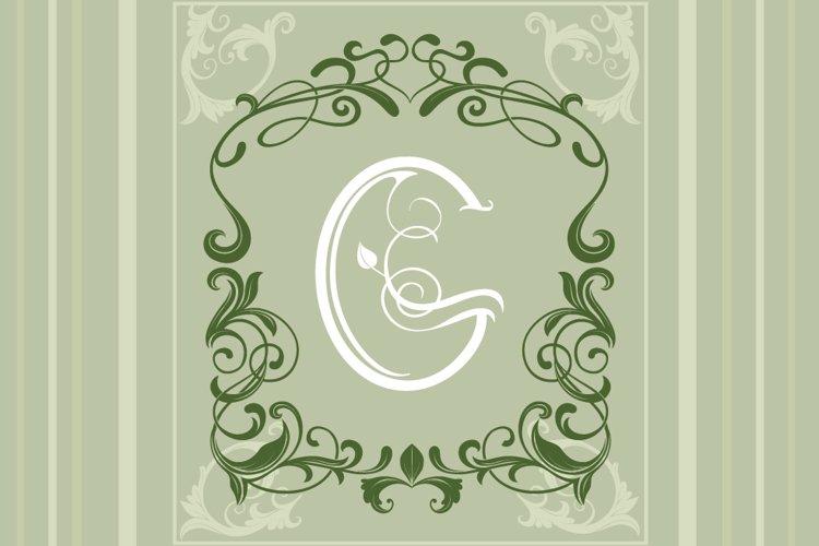 Leafy Monogram Font & Alphabet example 2