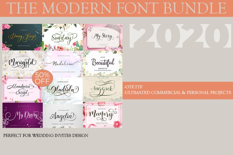 The Modern Font Bundle example image 1