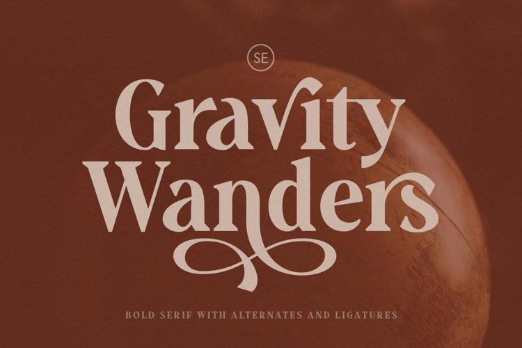 Gravity Wanders - Stylish Bold Serif example image 1