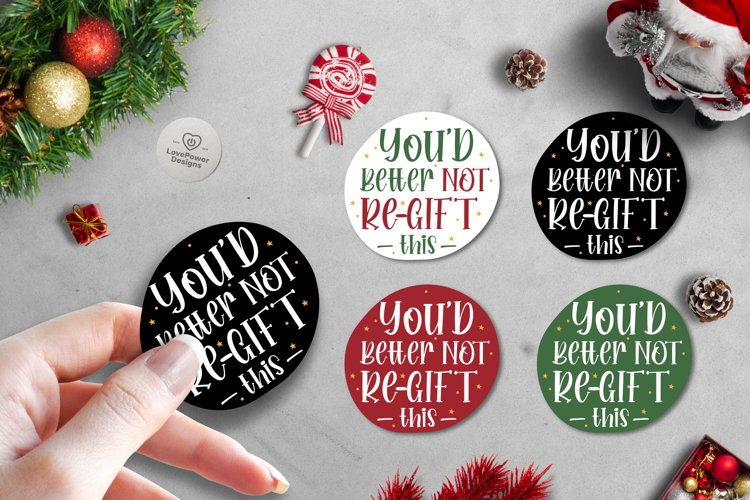 Christmas Stickers Printable Labels PNG | Sarcastic Stickers