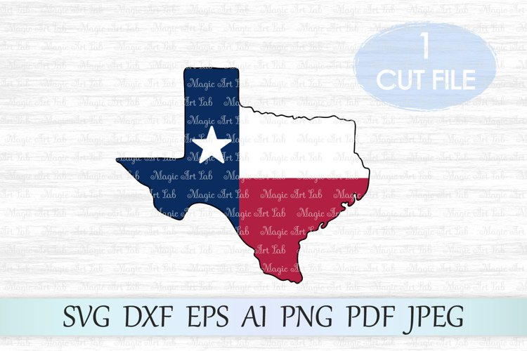 Texas SVG, Texas state cut file, Texas with flag clipart