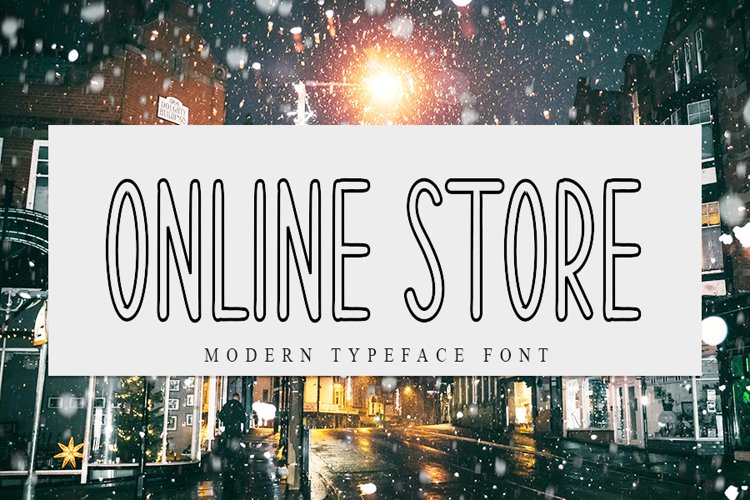 Online Store | Modern Typeface Font example image 1