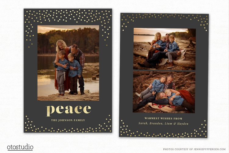 Christmas Card Template for Photographers CC196 example image 1