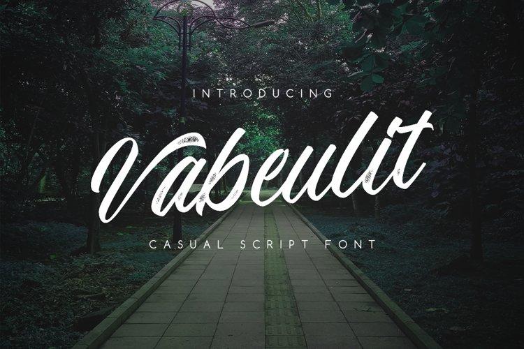 Vabeulit script font