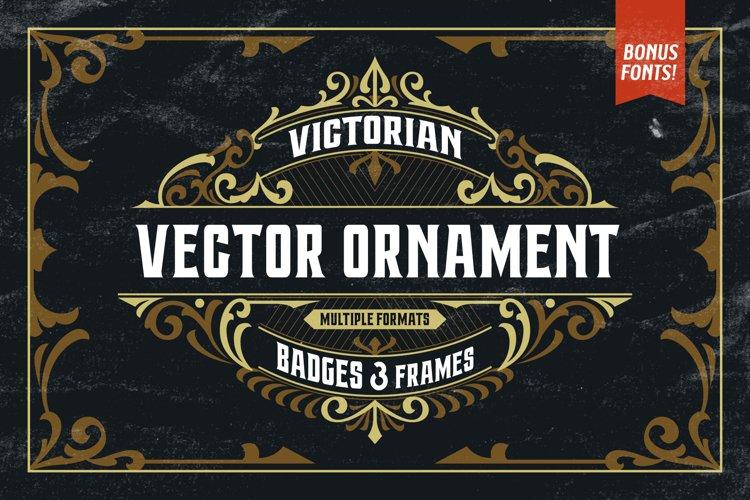 Victorian Ornaments Vector Bonus