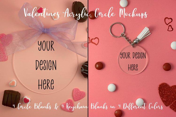 Valentines Clear Acrylic Mockups Circle and Acrylic Keychain