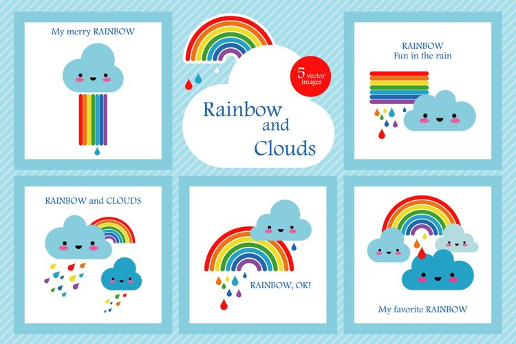 Rainbow and cloud example image 1