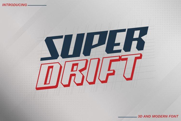 Super Drift | Display Font example image 1