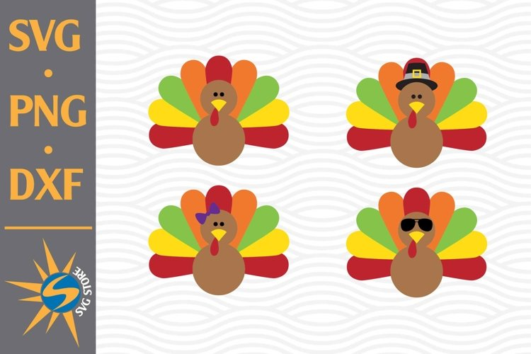 Turkey SVG, PNG, DXF Digital Files Include example image 1