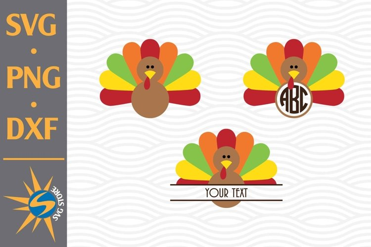 Turkey Monogram SVG, PNG, DXF Digital Files Include example image 1