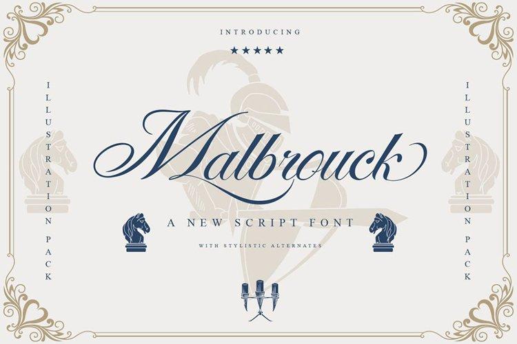 Malbrouck Classic Script Font example image 1