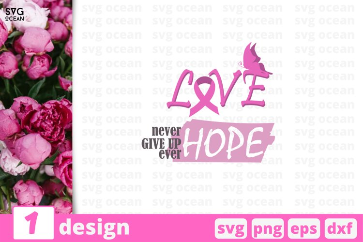 AWARENESS RIBBON SVG QUOTES | Breast cancer svg | Cancer example image 1