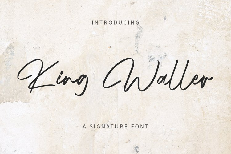 King Waller - Signature Font YR example image 1