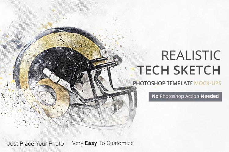 Tech Sketch Art Photoshop Mock-ups example image 1