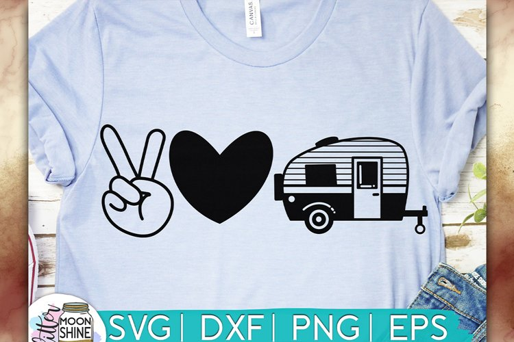 Download Peace Love Camping Svg Dxf Png Eps Cutting Files 275307 Svgs Design Bundles