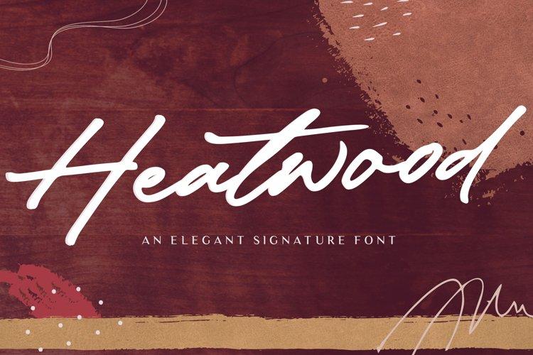 Heatwood An Elegant Signature Font example image 1