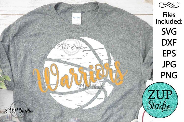 Grunge Warriors Basketball SVG Design Cutting Files 394