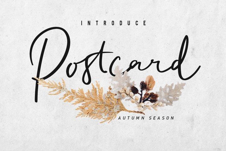 Postcard Script example image 1